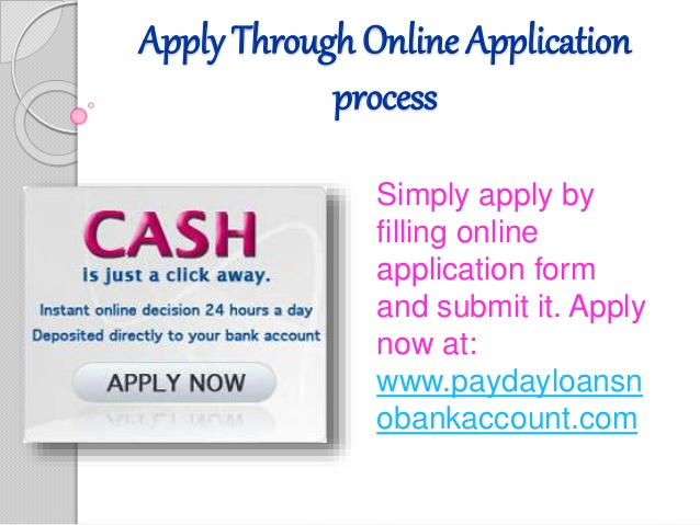 No bank account payday loans online